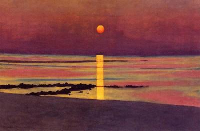 Félix Vallotton, Sunset, Bronze-Purple, 1911