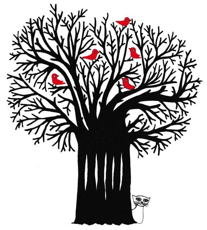 gaztto uccelli albero575
