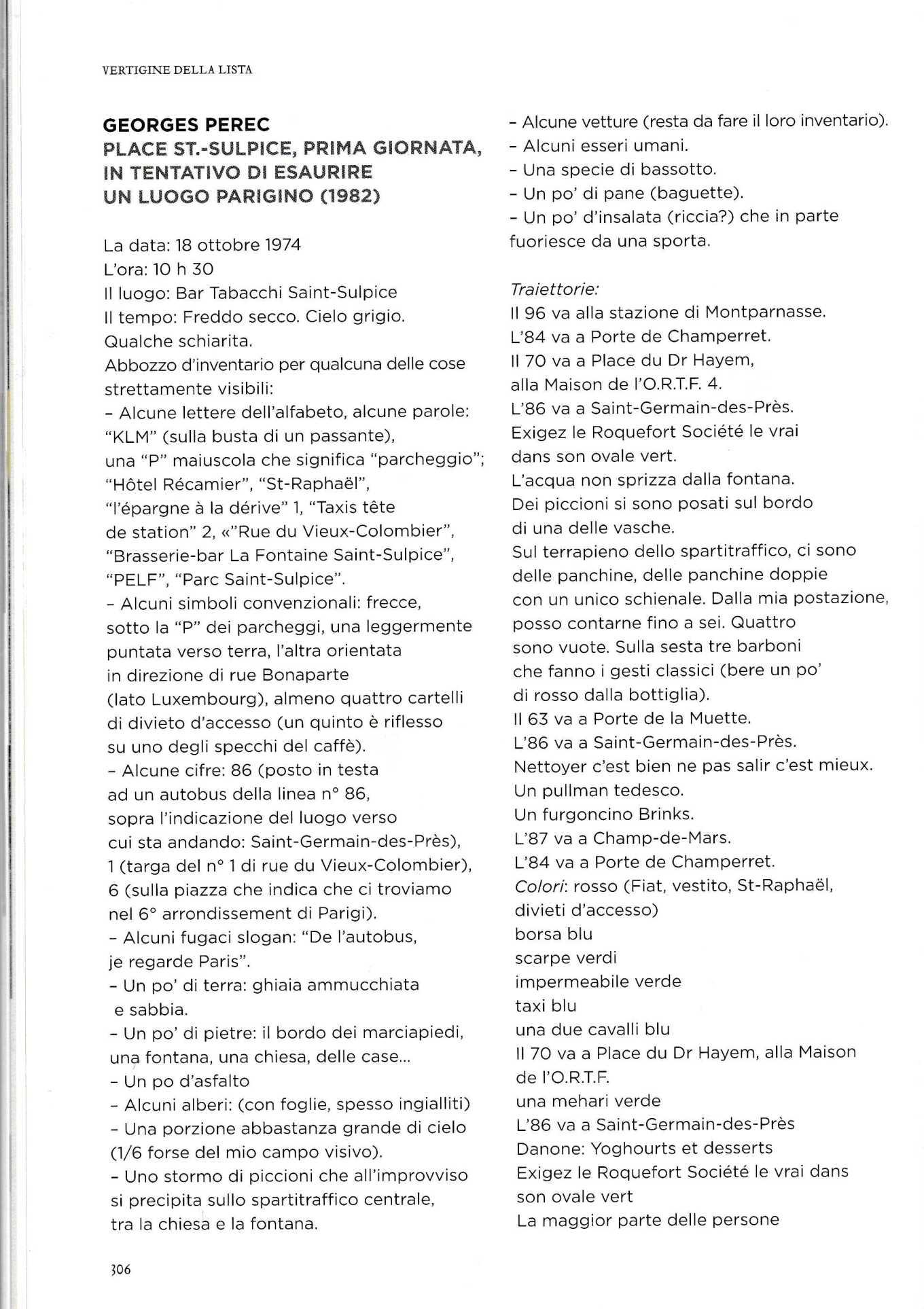 ESAURIMENTO LUOGO PEREC2034