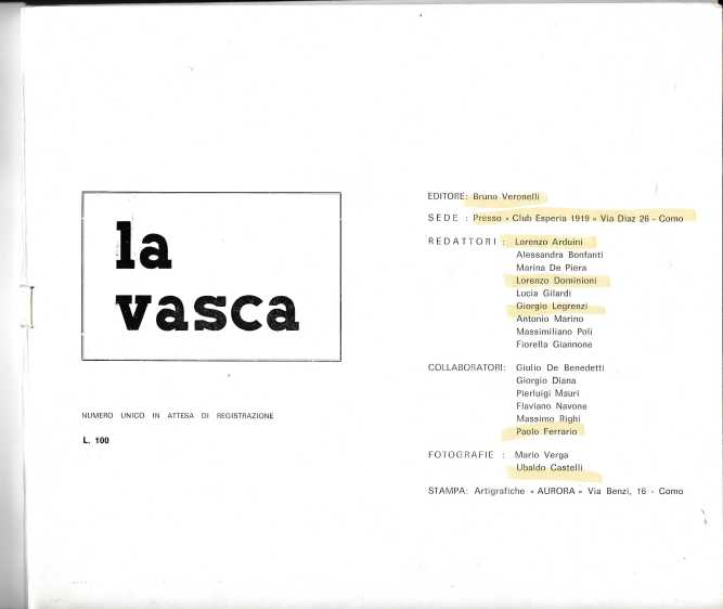 LA VASCA 2859