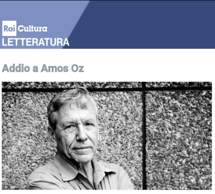 """AMOS OZ, """"Scene di vita da un villaggio"""""""