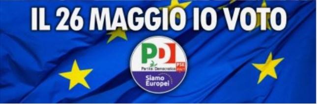 elezioni europee: Il 26 maggio 2019 VOTO PD – Partito Democratico. Ho individuato le mie tre preferenze:  MORANDO ENRICO, TINAGLI IRENE, AVANZA CATERINA (circoscrizione italia nord occidentale).  Per non votare il capolista, affossatore, con bertinotti minuscolo, del primo governo Prodi e maiorino minuscolo, odiatore di MATTEORENZI