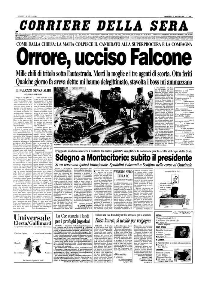 in ricordo del magistrato GIOVANNI FALCONE (1939- 23 maggio 1992). Indici di alcuniLIBRI