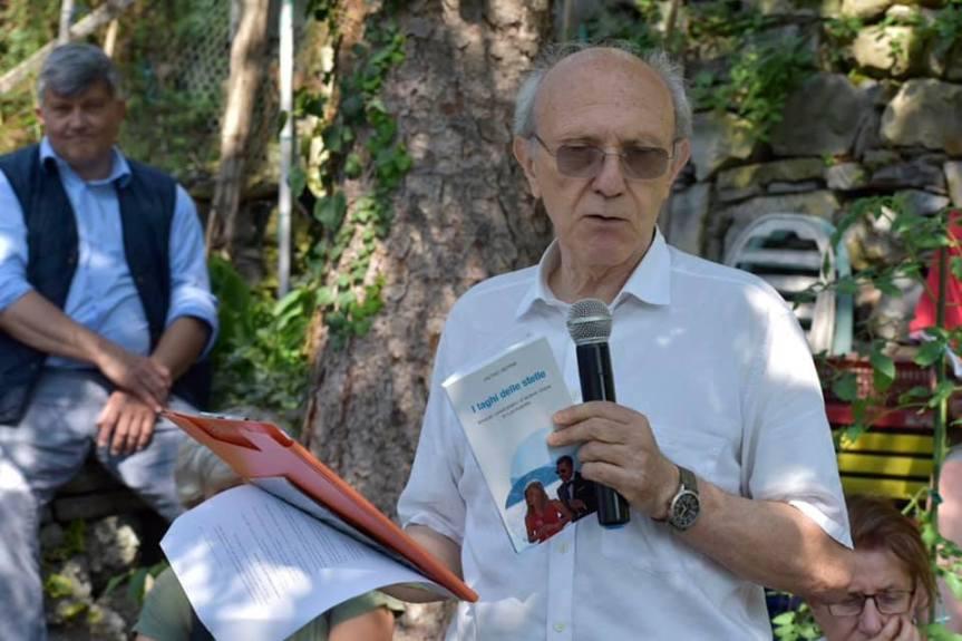 Paolo Ferrario presenta il libro: PIETRO BERRA, I laghi delle stelle. Itinerari cine turistici d'acqua dolce in Lombardia, New Press edizioni, 2019. A Nesso (Lago di Como), 24 agosto2019