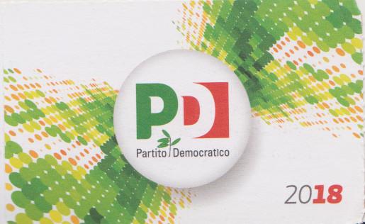 tessera del PD / Partito Democratico, 25 settembre2018